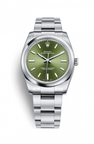 Rolex 114200-0021 : Oyster Perpetual 34 Olive Green