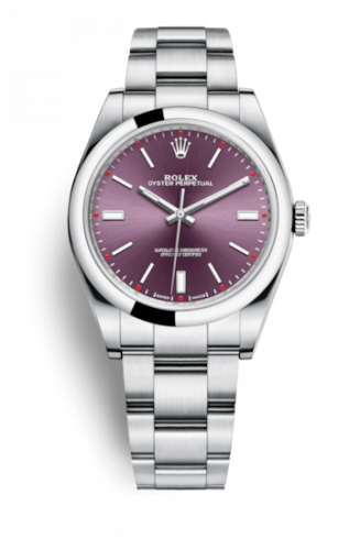 Rolex 114300-0002 : Oyster Perpetual 39 Red Grape