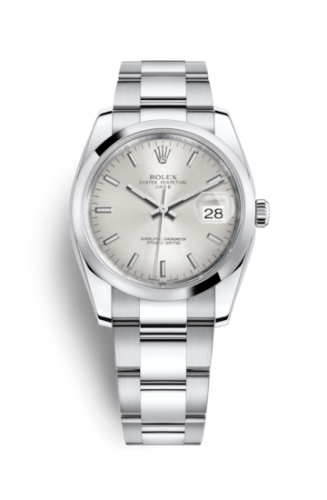 115200-0006 : Rolex Oyster Perpetual Date 34 Stainless Steel Domed / Oyster / Silver