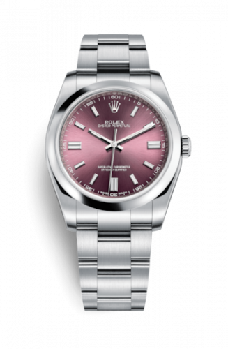 Rolex 116000-0010 : Oyster Perpetual 36 Red Grape