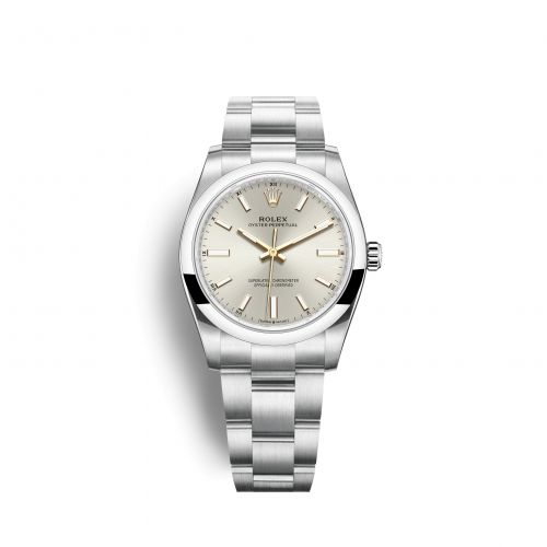 Rolex 124200-0001 : Oyster Perpetual 34 Stainless Steel / Silver