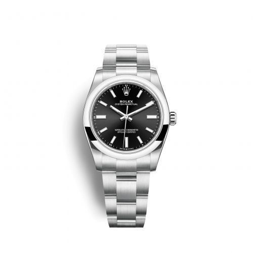 Rolex 124200-0002 : Oyster Perpetual 34 Stainless Steel / Black