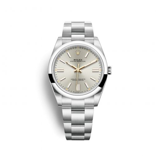 Rolex 124300-0001 : Oyster Perpetual 41 Stainless Steel / Silver