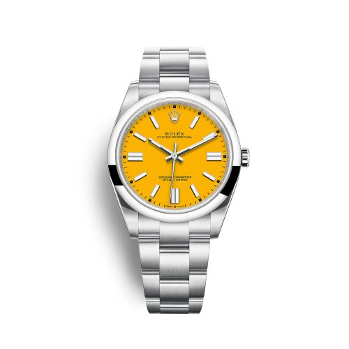 Rolex 124300-0004 : Oyster Perpetual 41 Stainless Steel / Yellow