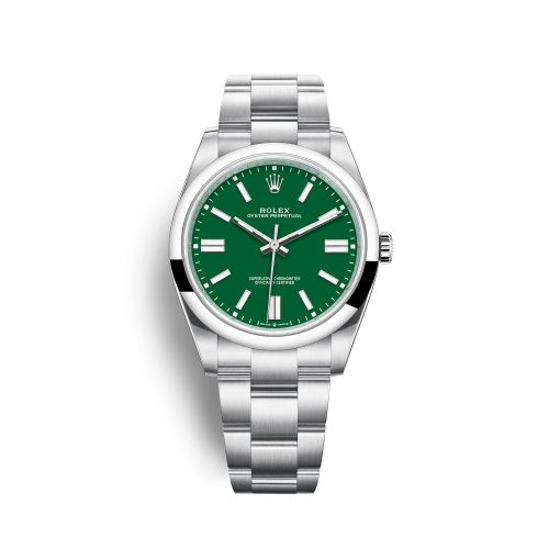 Rolex 124300-0005 : Oyster Perpetual 41 Stainless Steel / Green