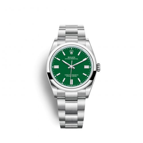 Rolex 126000-0005 : Oyster Perpetual 36 Stainless Steel / Green
