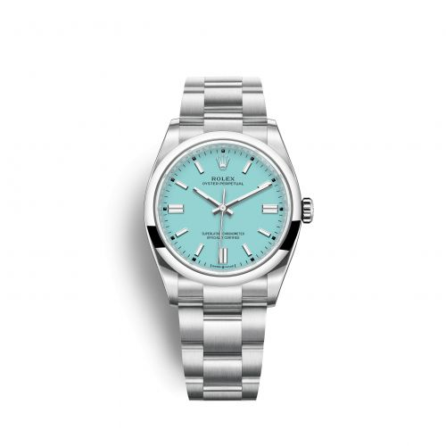 Rolex 126000-0006 : Oyster Perpetual 36 Stainless Steel / Turquoise