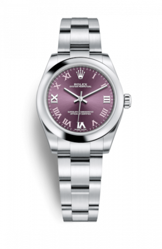 Rolex 177200-0017 : Oyster Perpetual 31 Red Grape Roman