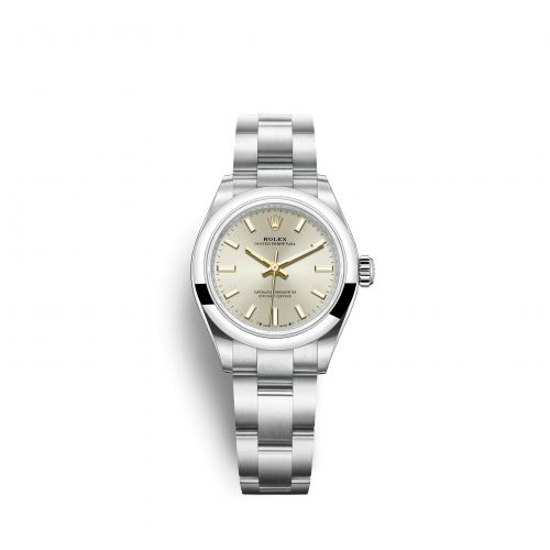 Rolex 276200-0001 : Oyster Perpetual 28 Stainless Steel / Silver