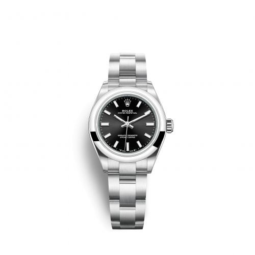 Rolex 276200-0002 : Oyster Perpetual 28 Stainless Steel / Black