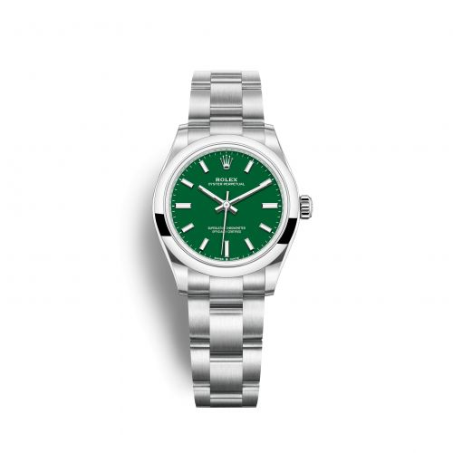 Rolex 277200-0006 : Oyster Perpetual 31 Stainless Steel / Green