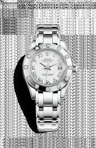 Rolex 80319-0040 : Datejust Pearlmaster 29 White Gold 12 Diamond White Roman