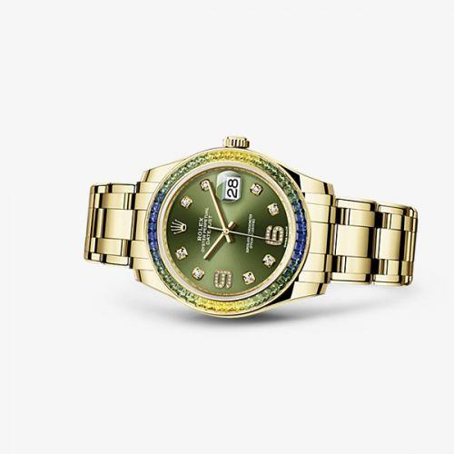 Rolex 86348sablv-0003 : Datejust Pearlmaster 39 Fancy Green