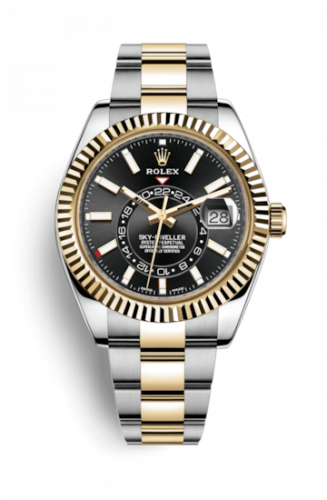 326933-0002 : Rolex Sky-Dweller Stainless Steel / Yellow Gold / Black