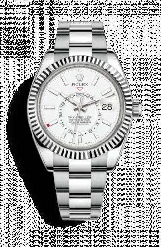 Rolex 326934-0001 : Sky-Dweller Stainless Steel / White Gold / White