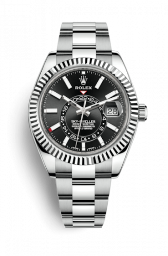 326934-0005 : Rolex Sky-Dweller Stainless Steel / White Gold / Black