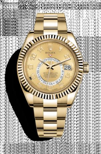 Rolex 326938-0002 : Sky-Dweller Yellow Gold / Champagne Arabic