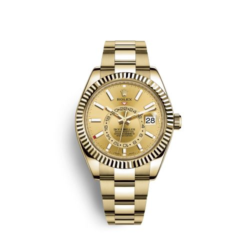 Rolex 326938-0003 : Sky-Dweller Yellow Gold / Champagne
