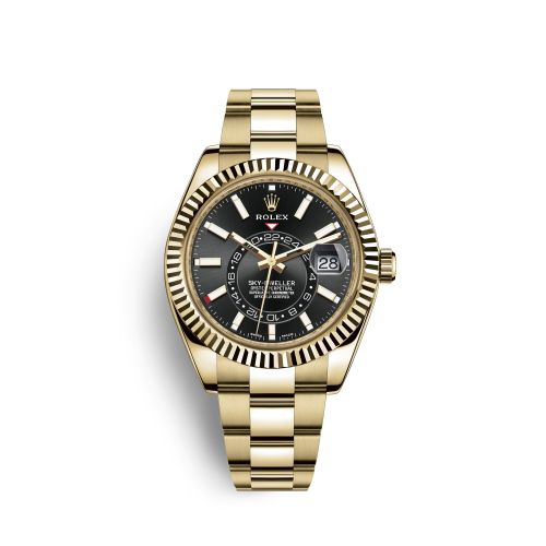 Rolex 326938-0004 : Sky-Dweller Yellow Gold / Champagne