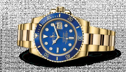 Rolex 116618lb-0002 : Submariner Date Yellow Gold / Blue-Diamond