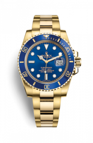 Rolex 116618LB-0003 : Submariner Date Yellow Gold / Blue