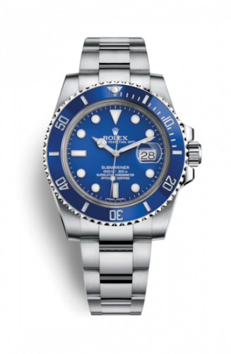 Rolex 116619lb-0001 : Submariner Date White Gold / Blue