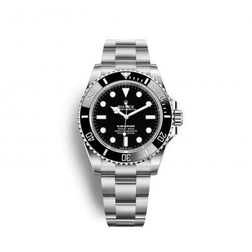 124060-0001 : Rolex Submariner No-Date 41 / Stainless Steel / Black / Cerachrom