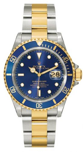 Rolex 16613 Blue SuperLuminova :  Submariner Date 16613 Blue Tritium