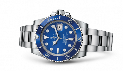 Rolex 116619lb-0002 : Submariner Date White Gold / Blue - Diamond