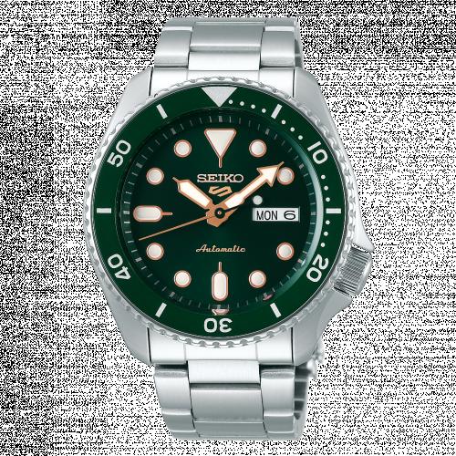 SRPD63K1 : Seiko 5 Sports Sports Style Stainless Steel / Green - Gold / Bracelet