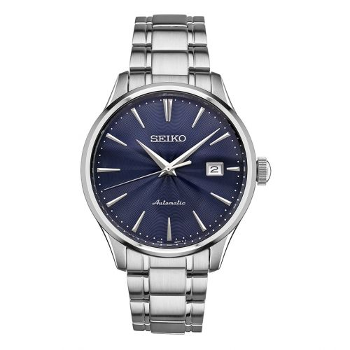 SRPA29 : Seiko Mechanical Stainless Stainless Steel / Blue / Bracelet