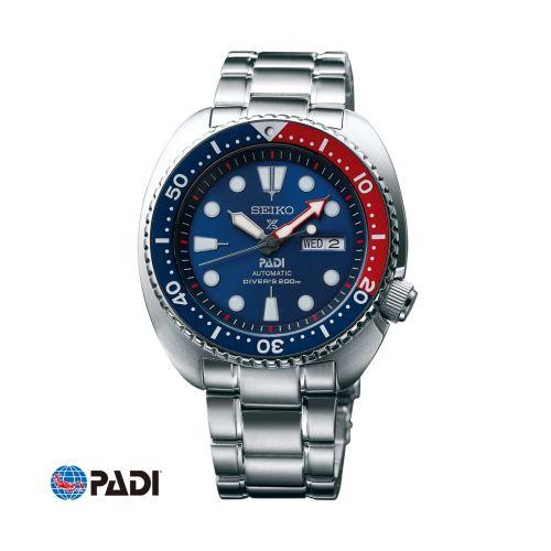 Seiko SRPA21 : Prospex Diver Turtle Stainless Steel / Blue / Bracelet / Padi
