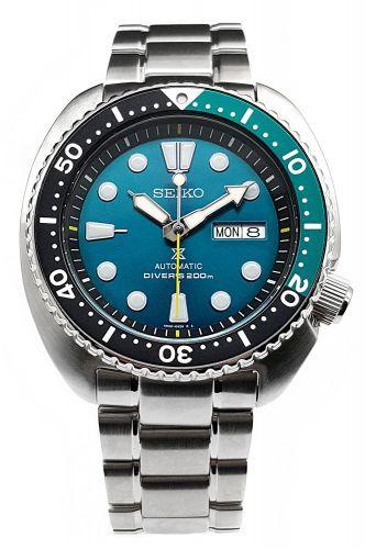 Seiko SRPB01 : Prospex Diver Turtle Stainless Steel / Green / Bracelet