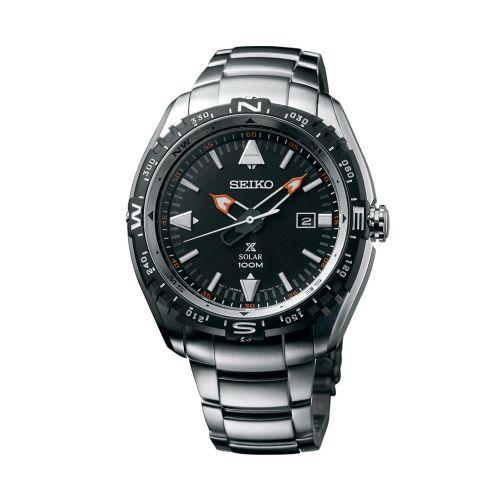 Seiko SNE421P1 : Prospex Land SNE421P1 Stainless Steel / Black / Bracelet