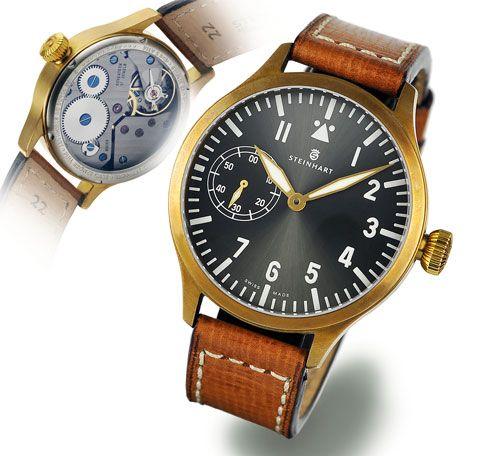 Steinhart F0320 : Nav B-Uhr 44 Handwinding Bronze