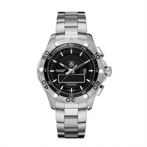 TAG Heuer CAF1010.BA0821 : Aquaracer 300M Chronotimer 43 Stainless Steel / Black / Bracelet