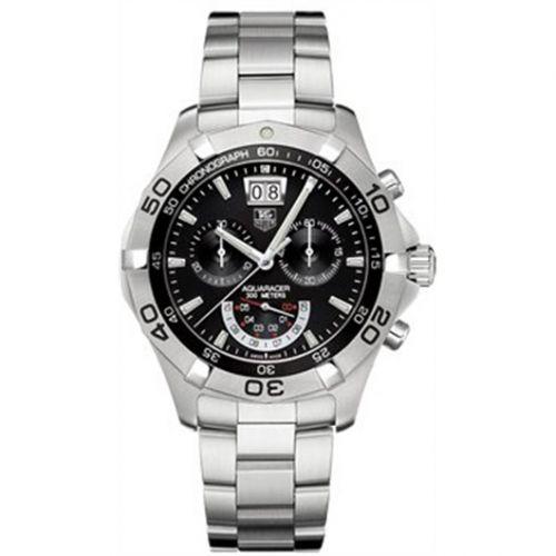 TAG Heuer CAF101A.BA0821 : Aquaracer 300M Quartz Chronograph 43 Stainless Steel / Black / Bracelet