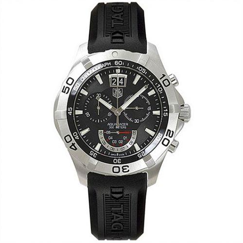 TAG Heuer CAF101A.FT8011 : Aquaracer 300M Quartz Chronograph 43 Stainless Steel / Black / Rubber