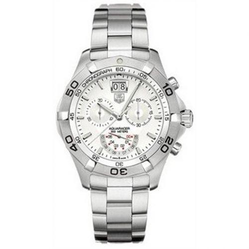 TAG Heuer CAF101B.BA0821 : Aquaracer 300M Quartz Chronograph 43 Stainless Steel / Silver / Bracelet