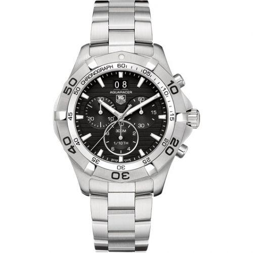 TAG Heuer CAF101E.BA0821 : Aquaracer 300M Quartz Chronograph 43 Stainless Steel / Black / Bracelet