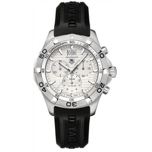 TAG Heuer CAF101F.FT8011 : Aquaracer 300M Quartz Chronograph 43 Stainless Steel / Silver / Rubber