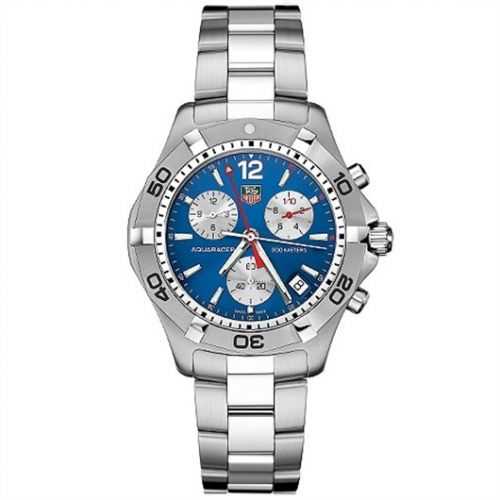 TAG Heuer CAF1112.BA0803 : Aquaracer 300M Quartz Chronograph 41 Stainless Steel / Blue / Bracelet
