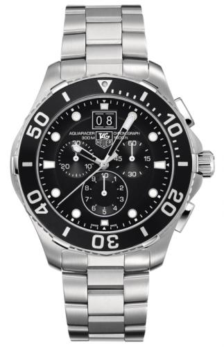 TAG Heuer CAN1010.BA0821 : Aquaracer 300M Quartz Chronograph 43 Stainless Steel / Black / Bracelet