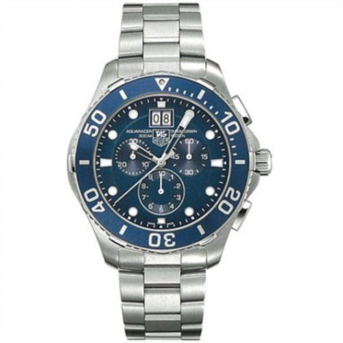TAG Heuer CAN1011.BA0821 : Aquaracer 300M Quartz Chronograph 43 Stainless Steel / Blue / Bracelet