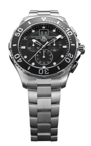 TAG Heuer CAN1012.BA0821 : Aquaracer 300M Quartz Chronograph 43 Stainless Steel / One Piece