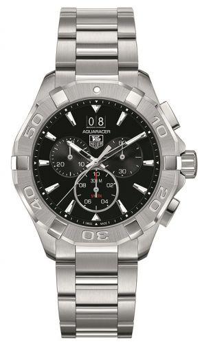 TAG Heuer CAY1110.BA0925 : Aquaracer 300M Quartz Chronograph 43 Stainless Steel / Black / Bracelet
