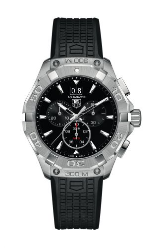 TAG Heuer CAY1110.FT6041 : Aquaracer 300M Quartz Chronograph 43 Stainless Steel / Black / Rubber