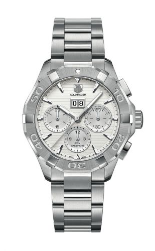 TAG Heuer CAY211Y.BA0926 : Aquaracer 300M Calibre 45 43 Stainless Steel / Silver / Bracelet