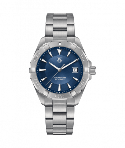 TAG Heuer WAY1112.BA0928 : Aquaracer 300M Quartz 40.5 Stainless Steel / Blue / Bracelet