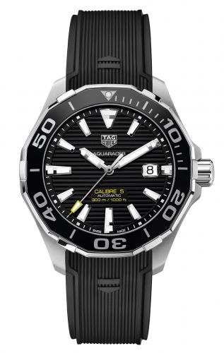TAG Heuer WAY201A.FT6069 : Aquaracer 300M Calibre 5 43 Stainless Steel / Black / Rubber